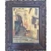 Tableau huile orientaliste de Jean Gabis 1934 cadre sculpté