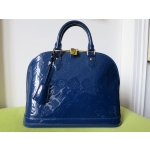 VUITTON ALMA VERNIS BLEU PM