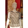LORIS AZZARO VINTAGE TOP LUREX CHAINES 1970