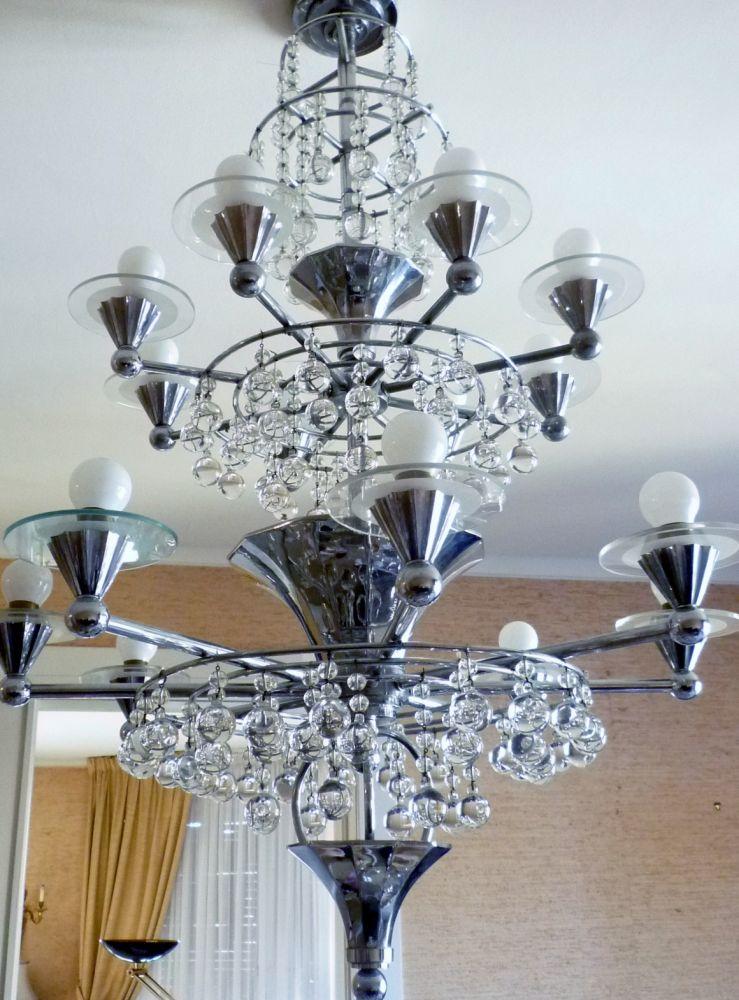 les tr sors du quai grand lustre art deco. Black Bedroom Furniture Sets. Home Design Ideas